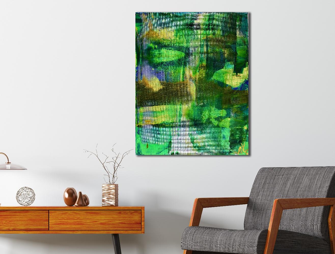 Green Fusion (2018) Acrylic painting by Nestor Toro