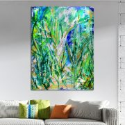 Magic Spectra (Green Forest) (2018) Acrylic painting by Nestor Toro