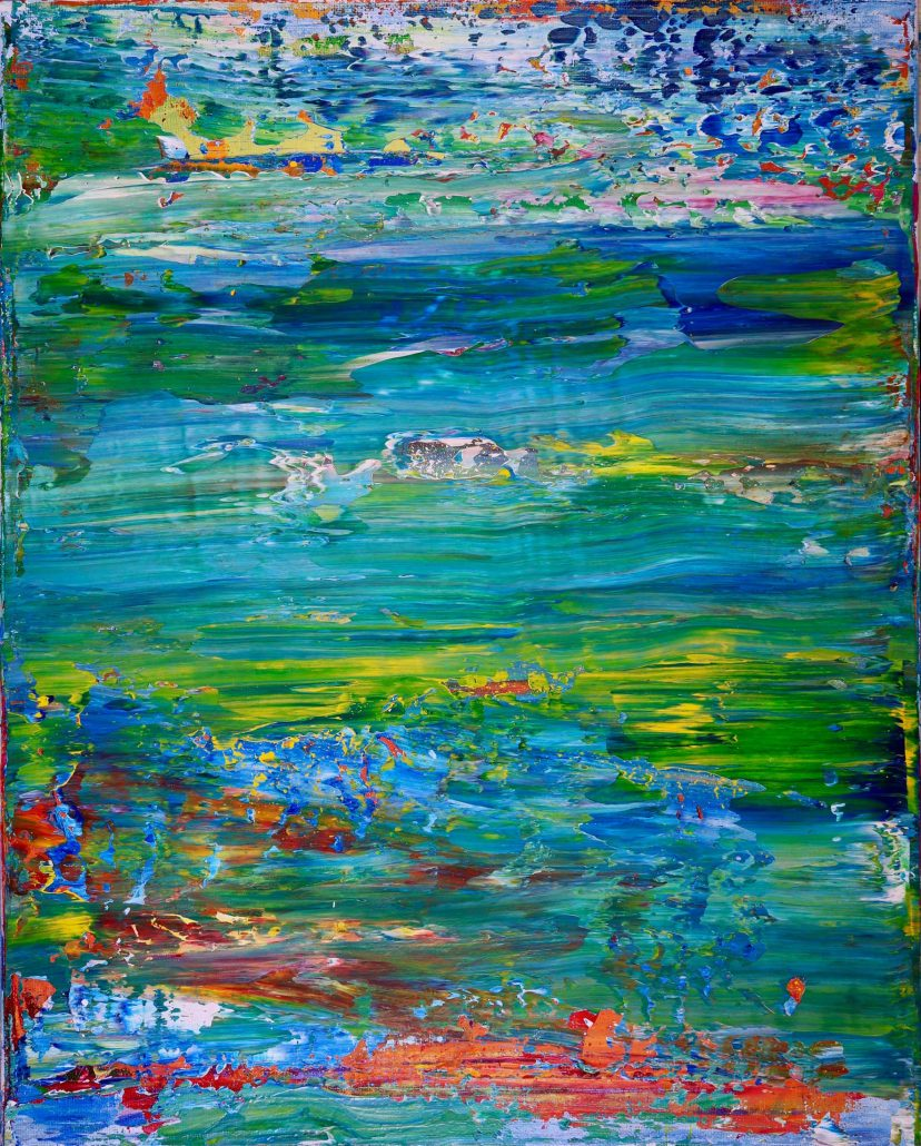 SOLD - Caribe-Abstract Landscape by Nestor Toro in Los Angeles