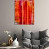Orange Fusion (2018) Acrylic painting by Nestor Toro