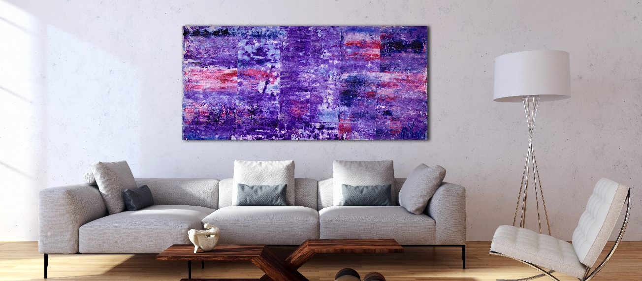 Enchanting Violet Spectra (2018) Acrylic painting by Nestor Toro