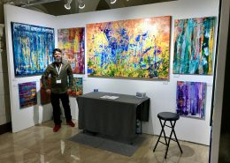 Los Angeles based abstract artist - Painter - Nestor Toro attending TOAF in Los Angeles March 2018