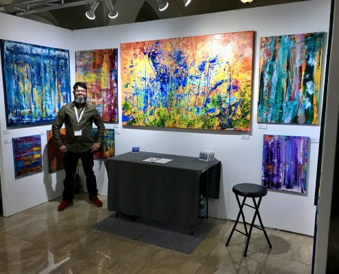Nestor Toro showing at The Other Art Fair in Los Angeles March 2018