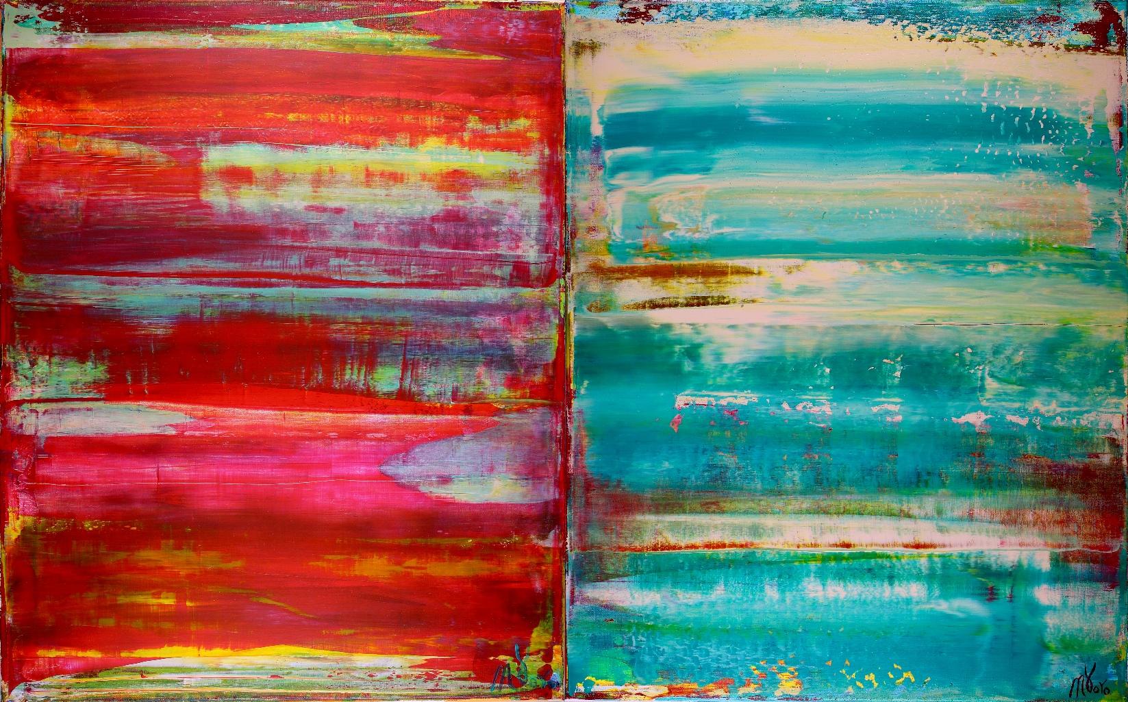 Dual Panorama - Triptych (2018) Acrylic painting by Nestor ToroDual Panorama - Triptych (2018) Acrylic painting by Nestor Toro