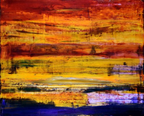 SOLD - Iridescent Volcanic Spectra - SOLD (2015) Acrylic painting by Nestor Toro in Los Angeles