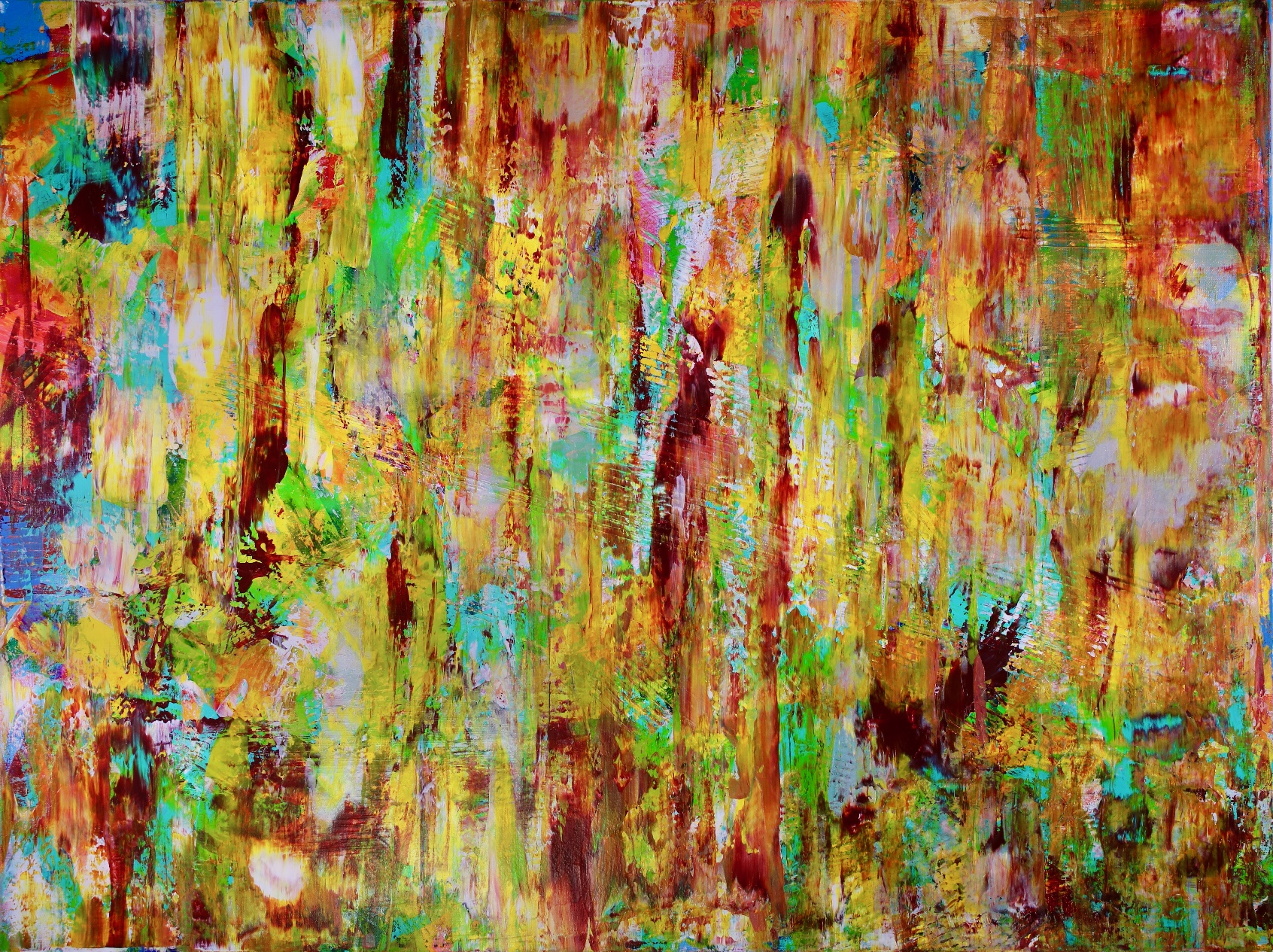 Magic Golden Spectra (2018) Acrylic painting by Nestor ToroMagic Golden Spectra (2018) Acrylic painting by Nestor Toro