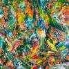 Orange Blossoms (2018) Acrylic painting by Nestor Toro