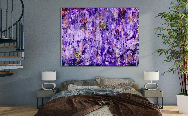 Purple Spectra (2018) Acrylic painting by Nestor Toro