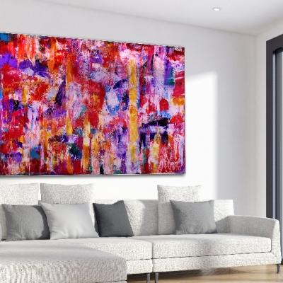Passion Spectra (2018) Acrylic painting by Nestor Toro