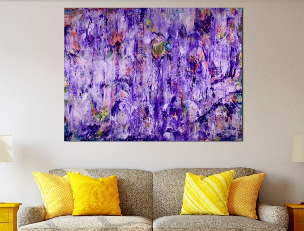 Purple Spectra by Nestor Toro - 36 x 48 inches