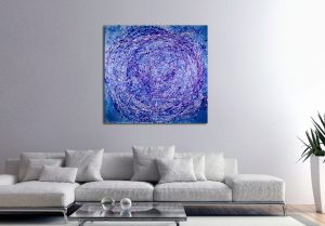 Vortex in Blue (2018) Acrylic painting by Nestor Toro