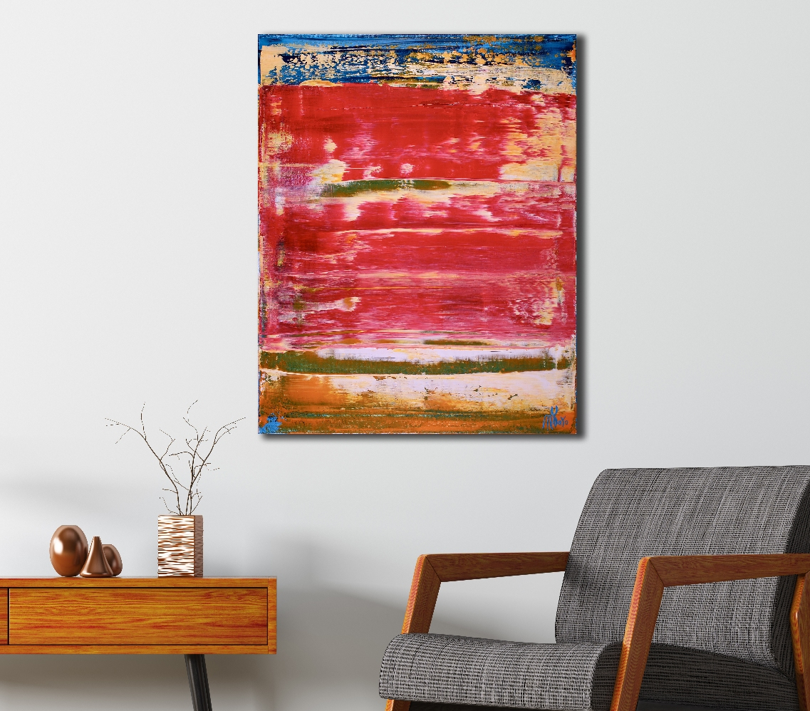 Distant Red (2018) Acrylic painting by Nestor Toro in Los Angeles