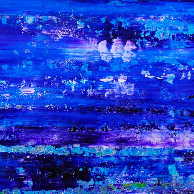 Indigo Panorama 2 (2018) Acrylic painting by Nestor Toro in Los Angeles