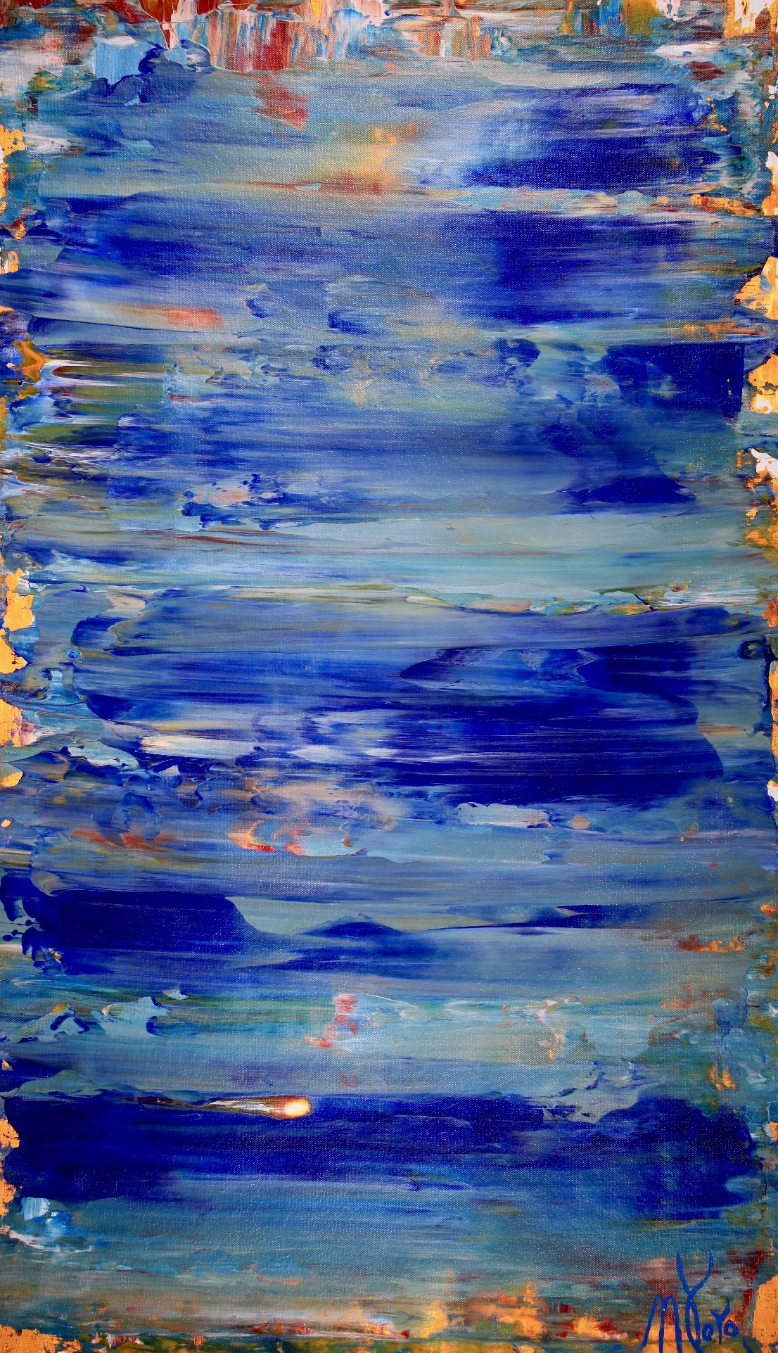 Mediterraneo (2018) Acrylic painting by Nestor Toro in Los Angeles