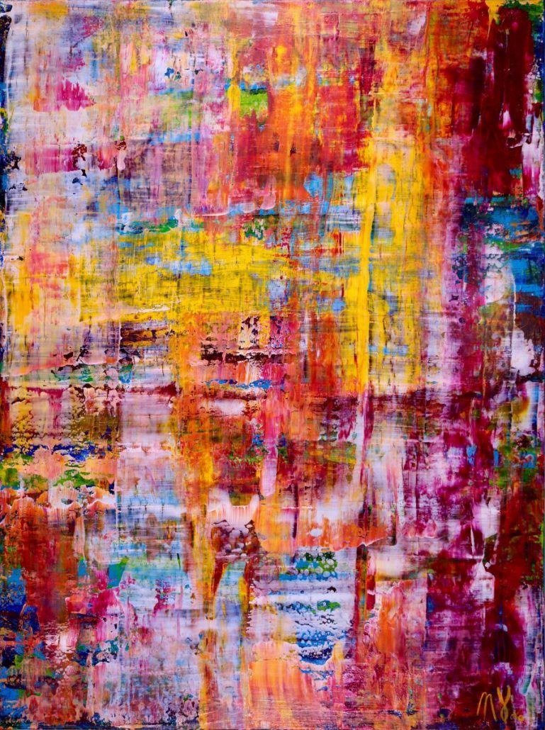 SOLD - Infinity Landscape by Nestor Toro -Los Angeles abstract painter
