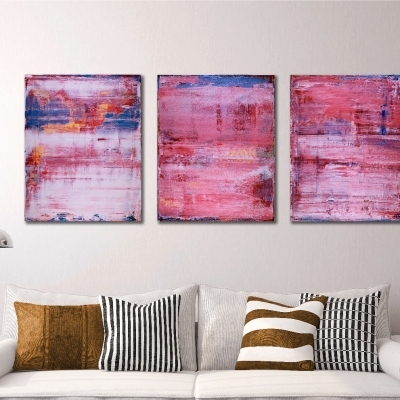 Pretty in Pink (During, Before and after) (2018) Abstract painting by Nestor Toro