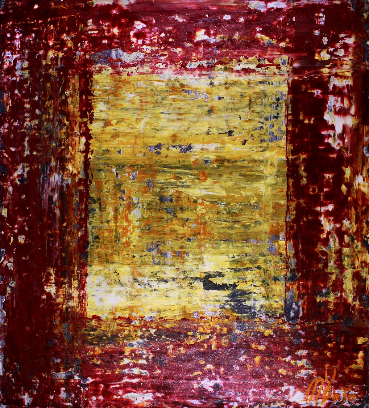 End of the Tunnel (2018)abstract art - Acrylic painting by Nestor Toro
