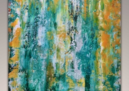 SOLD - Green Abstract Dimension by Nestor Toro