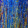 Detail - Color Contemplation over blue (2018) abstract art acrylic painting by Nestor Toro