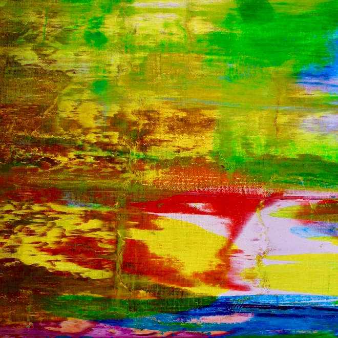 Espejismo (2018) abstract art Acrylic painting by Nestor Toro