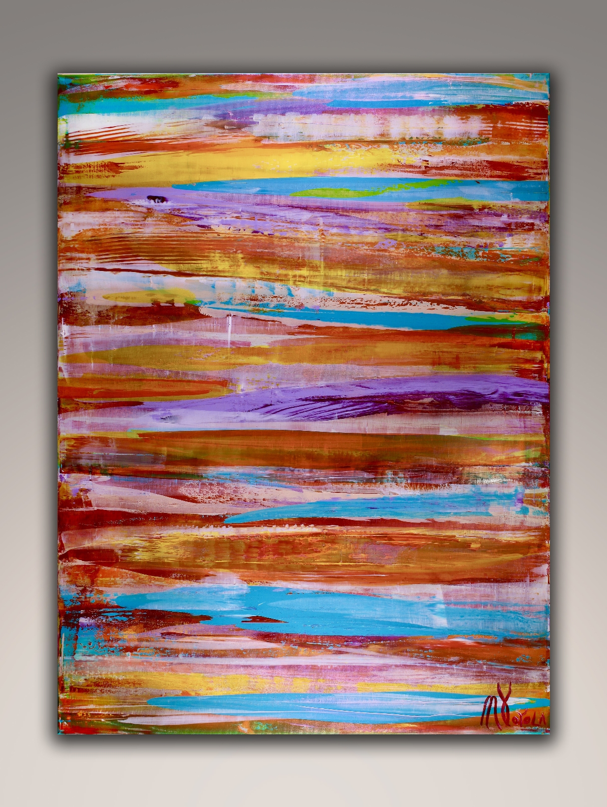 Energy Fusion 9 by Nestor Toro (2018) abstract art - Acrylic painting by Nestor Toro