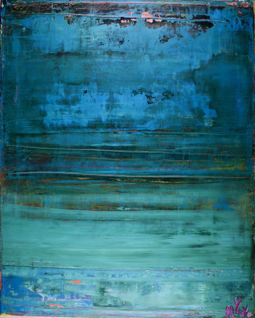 SOLD - Maritime Spectra by Nestor Toro (2018) abstract art Acrylic painting