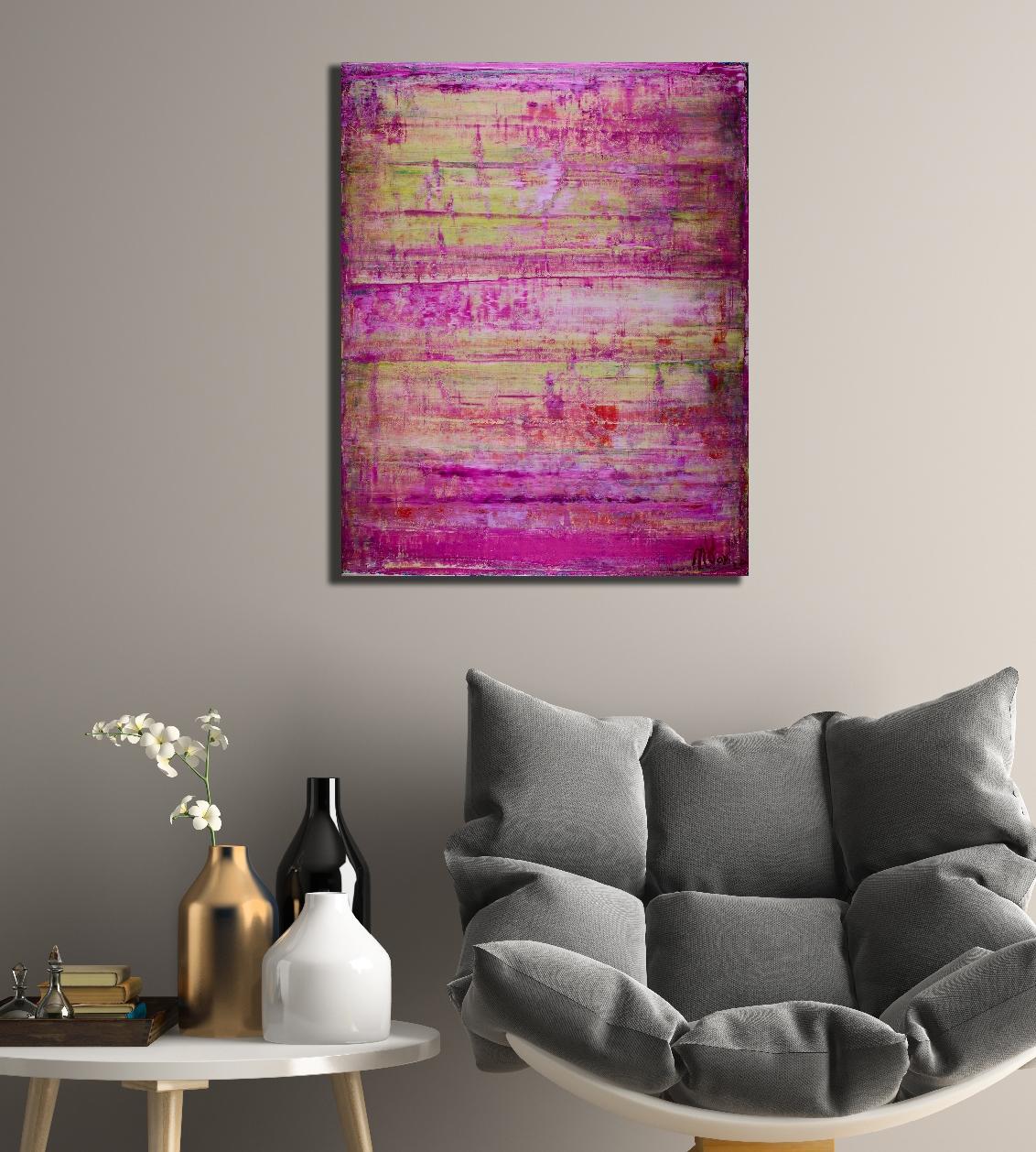 Purple Light by Nestor Toro (2018) abstract art Acrylic painting by Nestor Toro