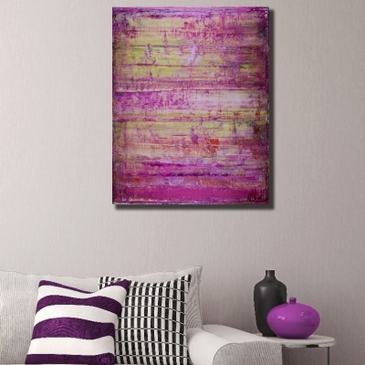 Purple Light by Nestor Toro (2018) abstract art Acrylic painting by Nestor Toro