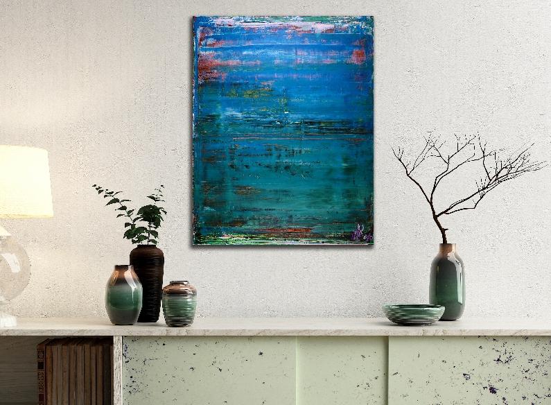 Maritime Spectra 2 by Nestor Toro (2018) abstract art Acrylic painting