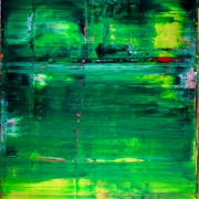 Sold abstract art Emerald Garden by Nestor Toro