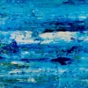 Detail - Blue Satin Ocean (2018) abstract art Acrylic painting by Nestor Toro
