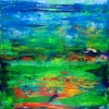 Tropics Field (2018) abstract art Acrylic painting by Nestor Toro