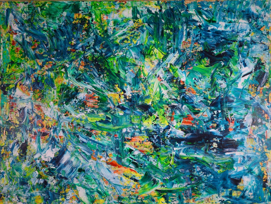 "SOLD - Shades of Green ""Another Rain-forest Dream"" by Nestor Toro"