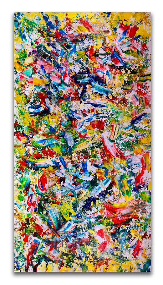 Zero compromises- Multiple orientations! (2018) abstract art Acrylic painting by Nestor Toro