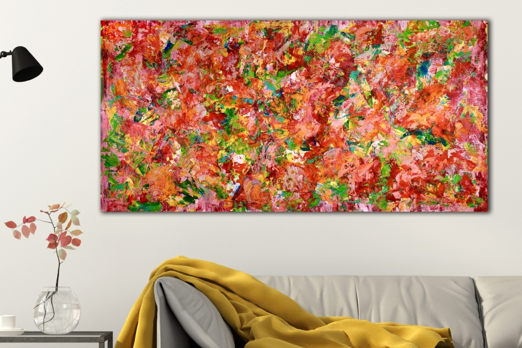 Day of secrets (2018) abstract art Acrylic painting by Nestor Toro
