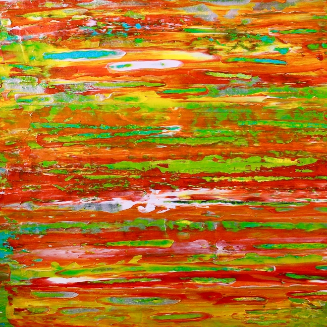 Tropics fusion- CONTEMPLATIVE AND BOLD! (2018) Abstract Acrylic painting by Nestor Toro in LA