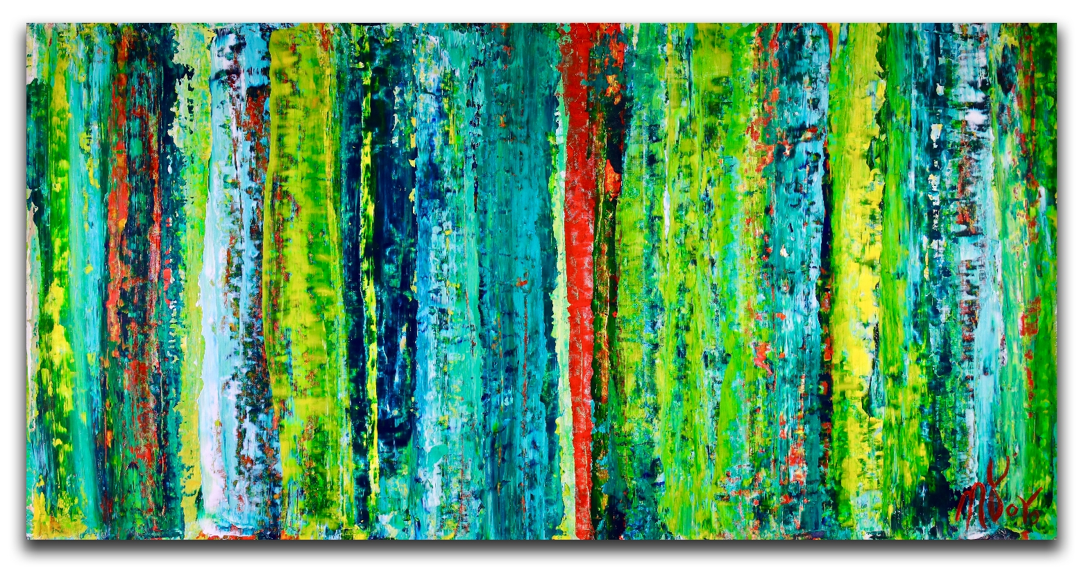 Landscape expressions No.3 (2018) Expressionistic Abstract Acrylic painting by Nestor Toro