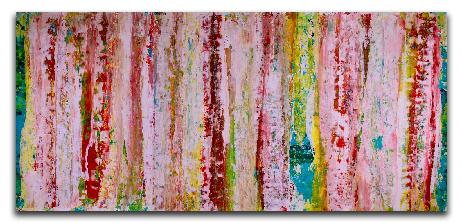 Landscape expressions No.1 (2018) expressionistic Acrylic painting by Nestor Toro