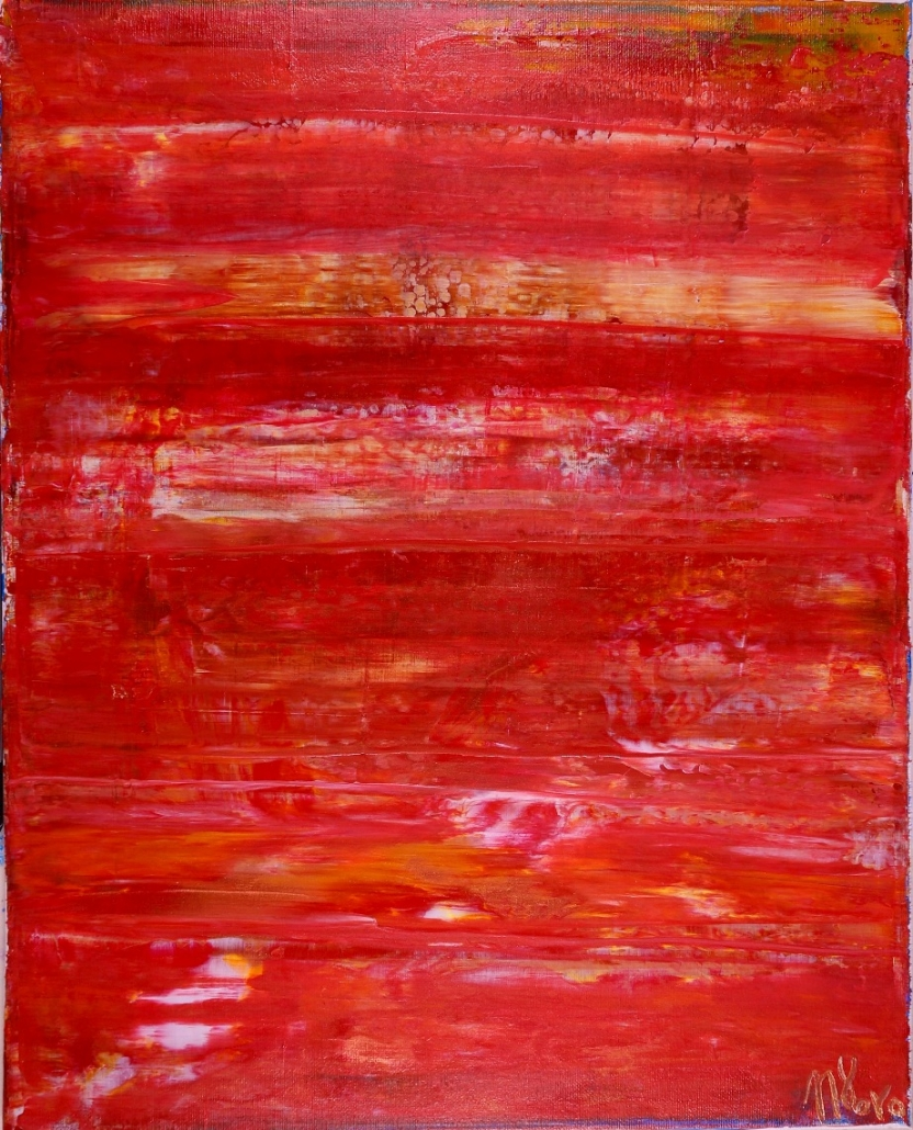 Copper Landscape (2017) abstract expressionist Acrylic painting by Nestor Toro