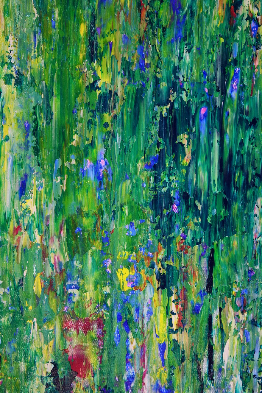 Green Frenzy (2018) Expressionistic Abstract Acrylic painting by Nestor ToroGreen Frenzy (2018) Expressionistic Abstract Acrylic painting by Nestor Toro