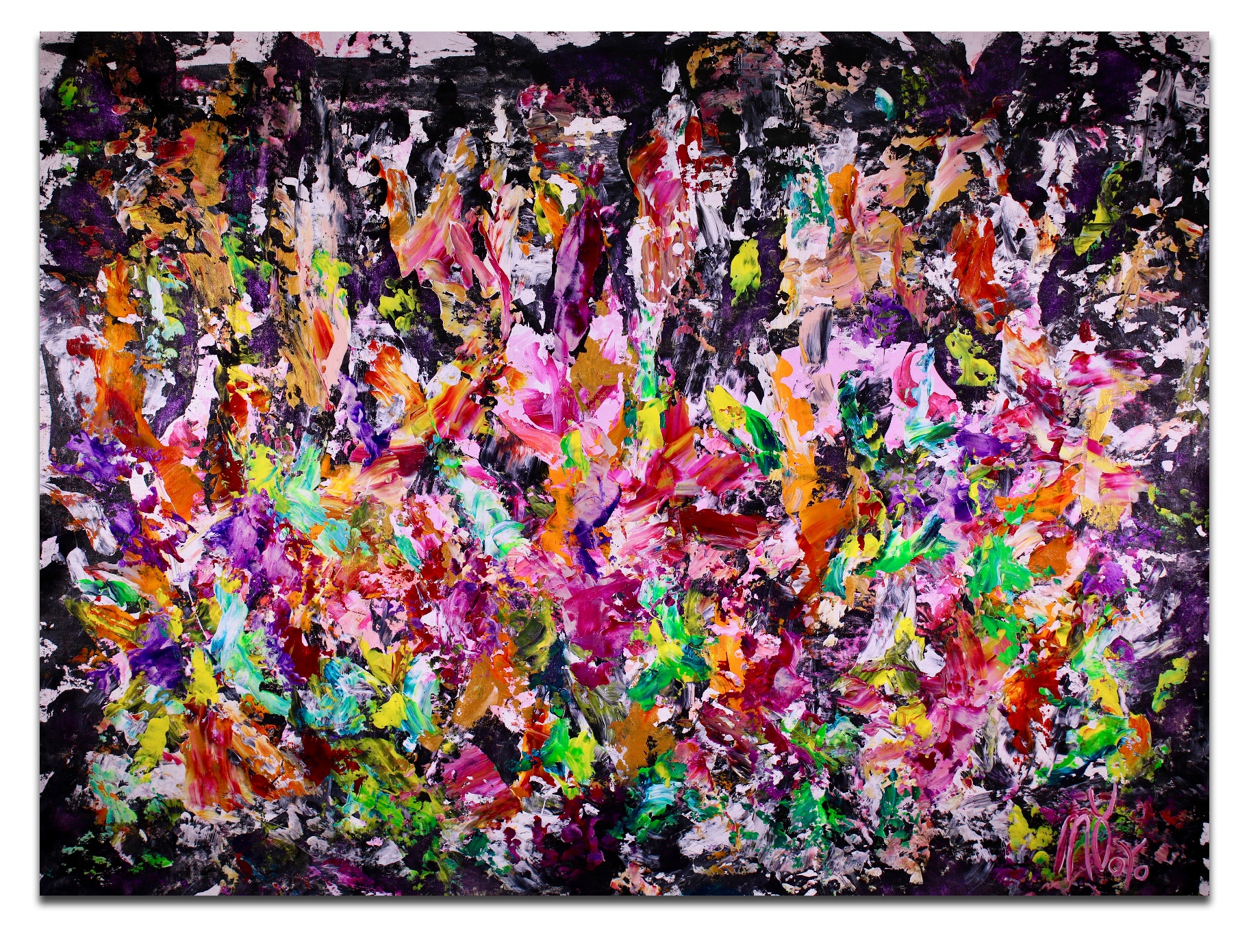 A night of secrets 2 (2018) Abstract Expressionist Acrylic painting by Nestor Toro