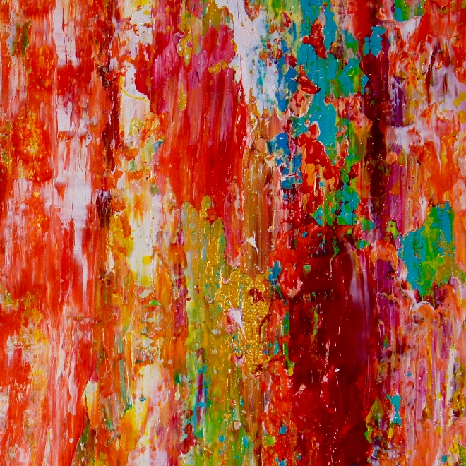 Echoes in paradise- BOLD! statement piece (2018) Expressionist Acrylic painting by Nestor Toro