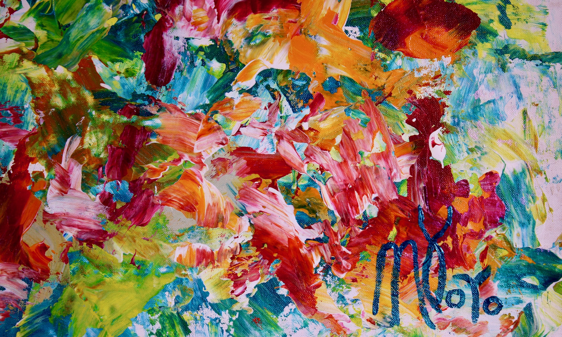 Abstract Expressionist Acrylic painting by Nestor Toro
