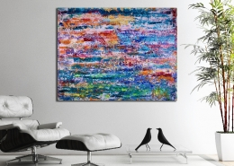 SOLD - Enchanted Spectra 6 (2018) Abstract Acrylic painting by Nestor Toro