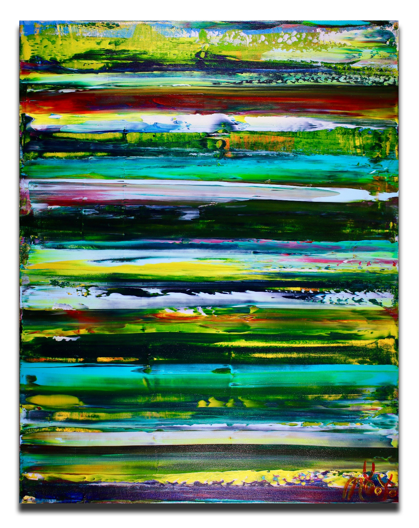 Forest Intrusion (2018) Abstract Acrylic painting by Nestor Toro