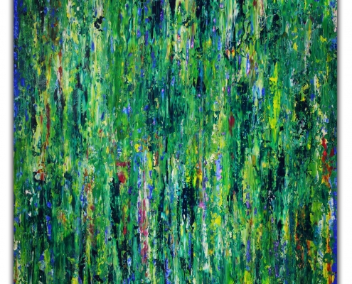 SOLD - Green Frenzy by Nestor Toro / Los Angeles