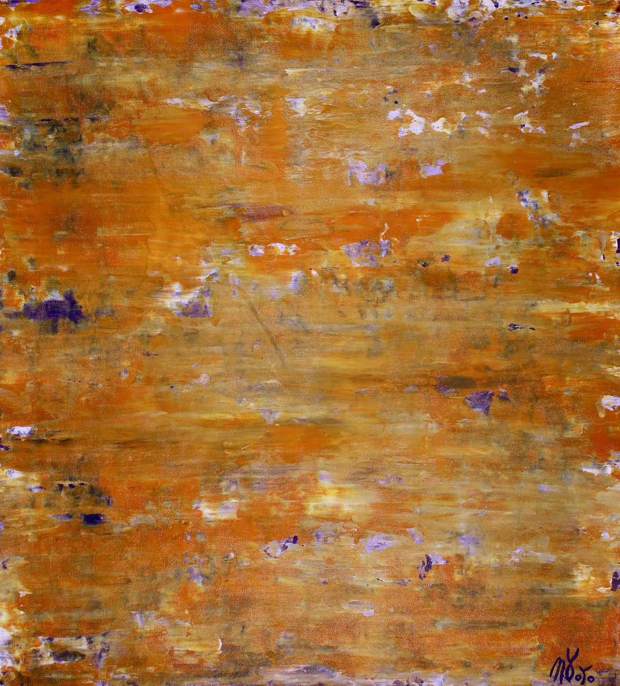 SOLD - Golden Shadows over purple by Nestor Toro - SOLD