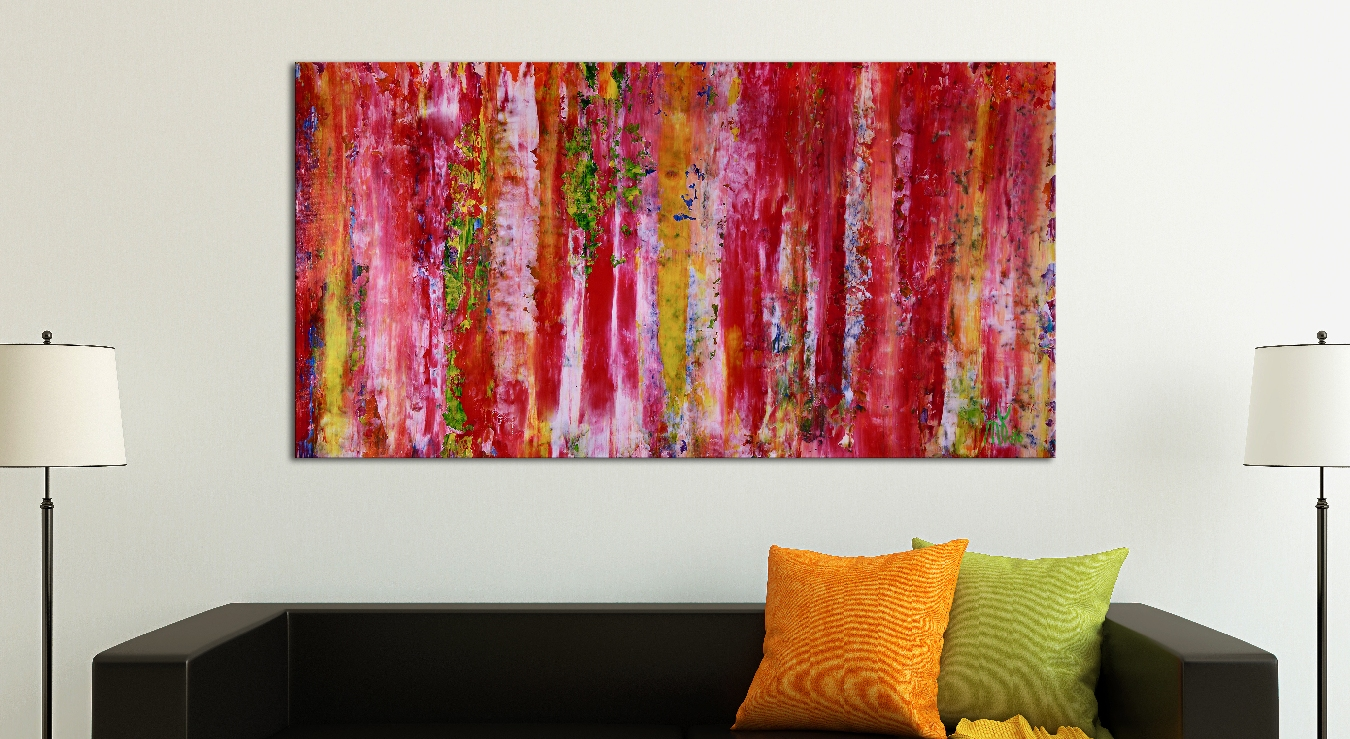 Mystery Spectra - Nestor Toro (2018) Abstract Acrylic painting by Nestor Toro