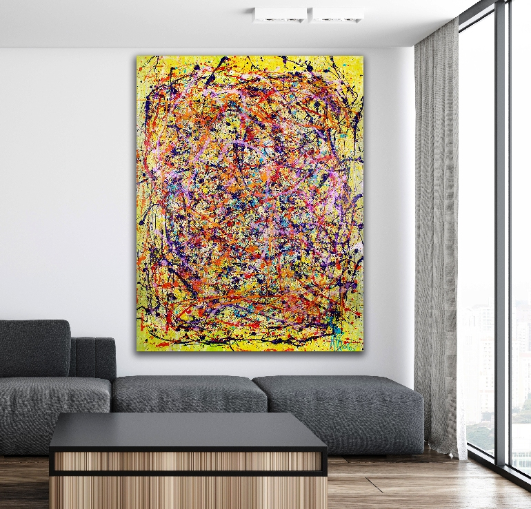 In a Fearless Reality (2018) Large Acrylic painting by Nestor Toro