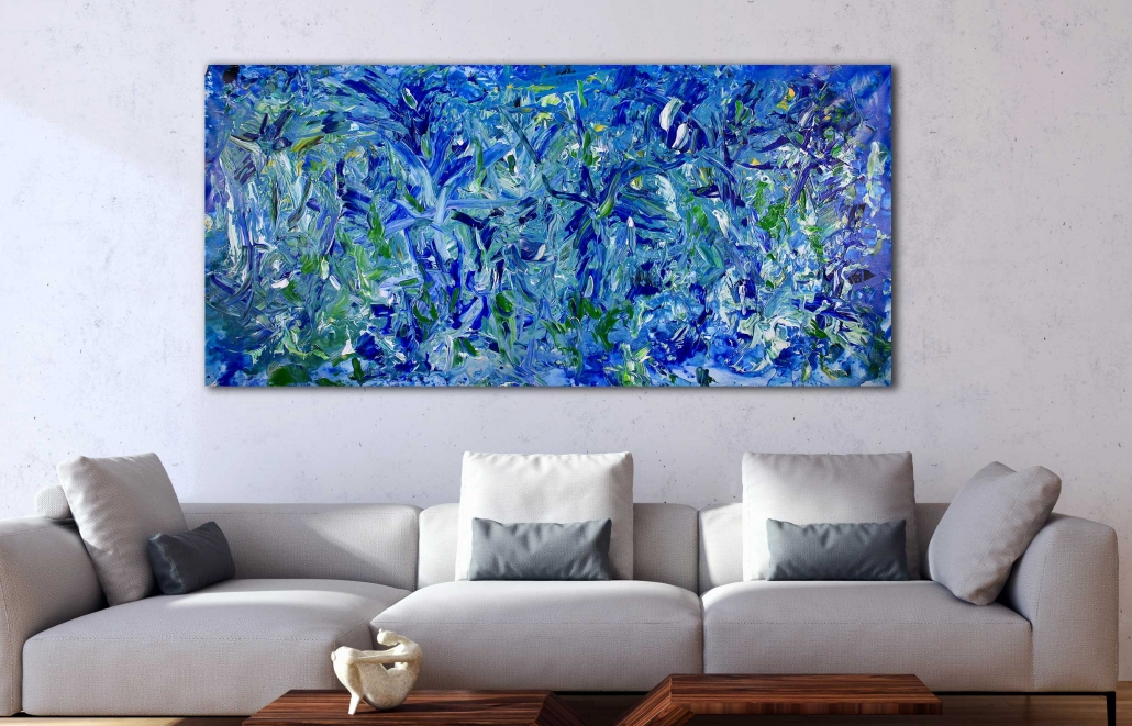 SOLD - Forest In Blue by Nestor Toro